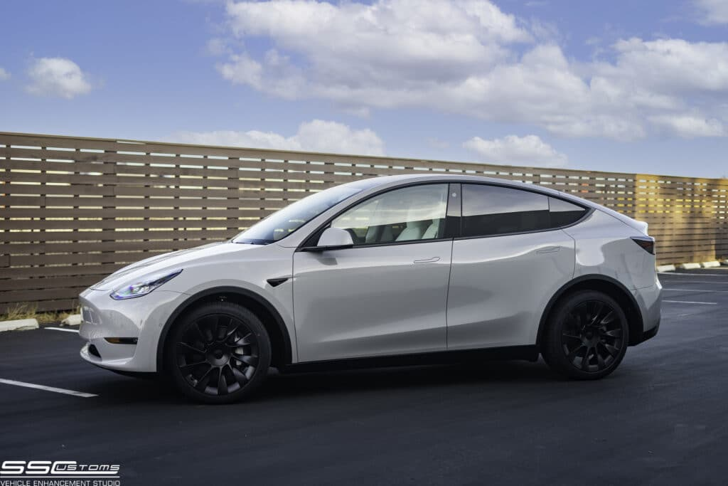 Chalk White Tesla Model Y